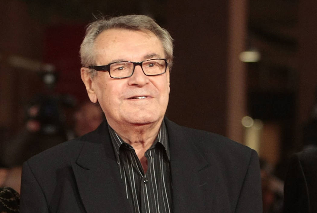 Milos Forman poses on the red carpet at the IV edition of the Rome Film Festival in Rome in 2009. (AP Photo/Gregorio Borgia)