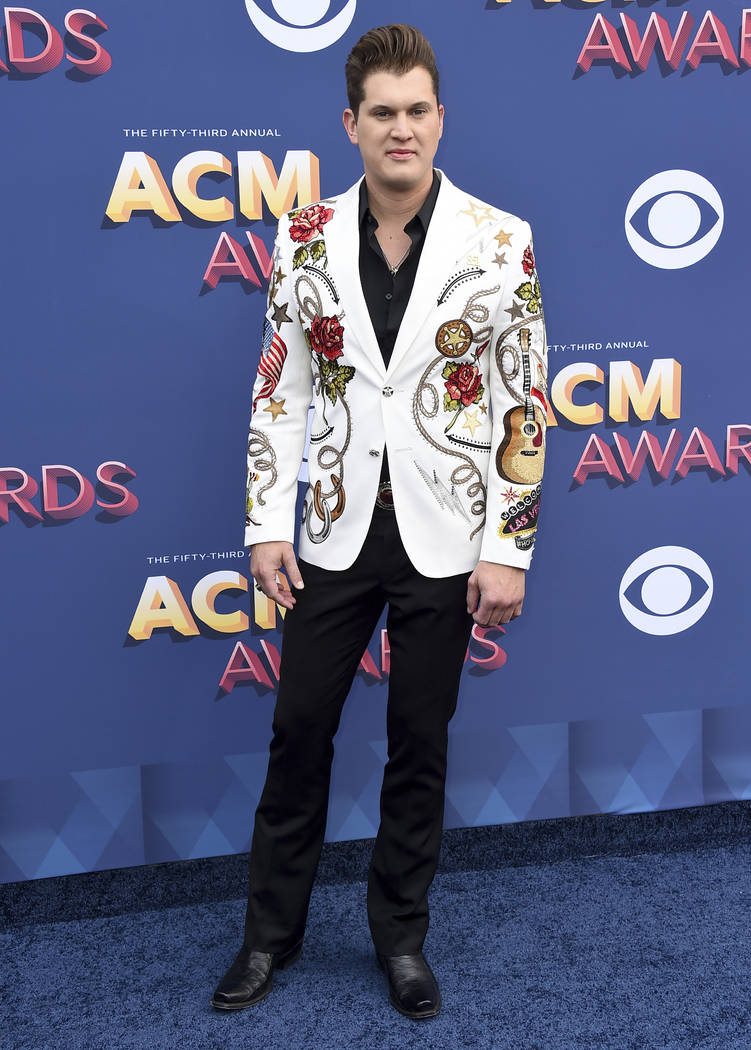 Jon Pardi arrives at the 53rd annual Academy of Country Music Awards at the MGM Grand Garden Arena on Sunday, April 15, 2018, in Las Vegas. (Photo by Jordan Strauss/Invision/AP)