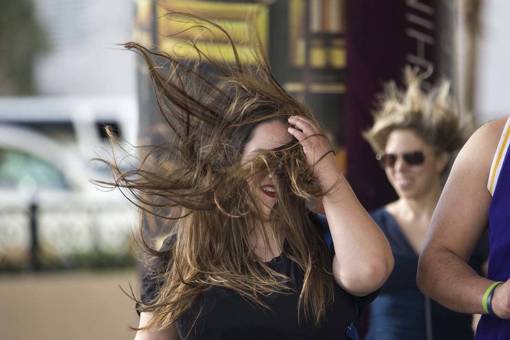 A wind advisory has been issued for the Las Vegas Valley on Monday, with gusts up to 50 mph possible. (Richard Brian/Las Vegas Review-Journal) @vegasphotograph