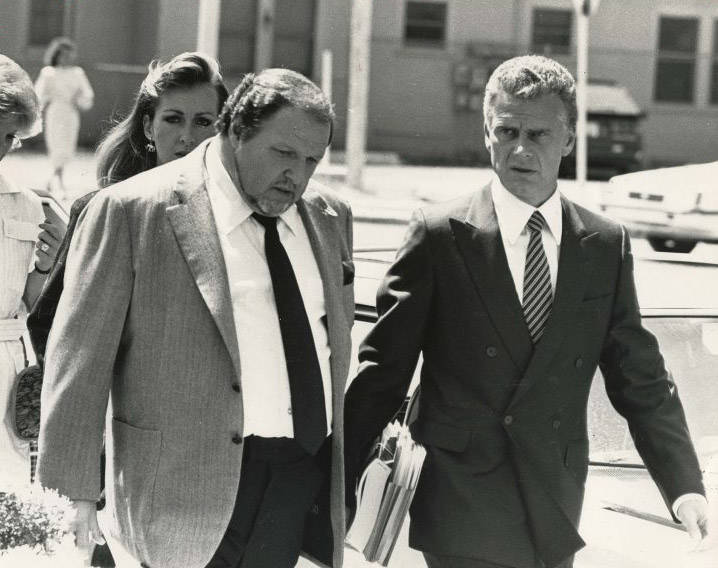 "Crime figure ""Fat Herbie"" Herbie Blitzstein, left, with his lawyer John Momot before Blitzstein was killed in 1997. (File Photo)"