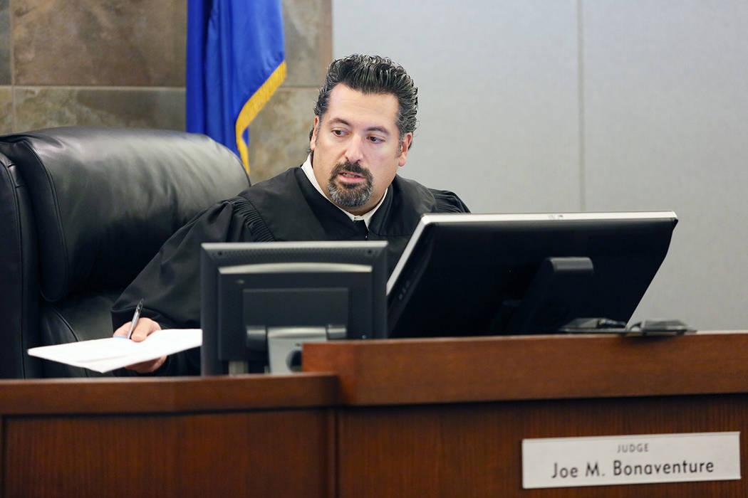 Judge Joe Bonaventure, seen in 2014. (Ronda Churchill/Las Vegas Review-Journal)