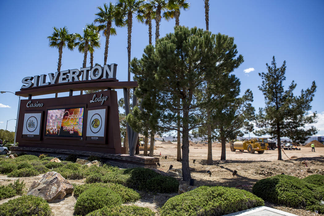 The site of Silverton Village, a $60 million retail and hotel project, near Silverton in Las Vegas on Tuesday, April 17, 2018. Patrick Connolly Las Vegas Review-Journal @PConnPie