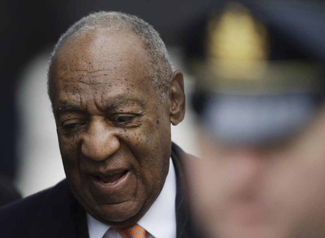 Bill Cosby arrives for his sexual assault trial, Tuesday, April 17, 2018, at the Montgomery County Courthouse in Norristown, Pa. (Matt Slocum/AP)