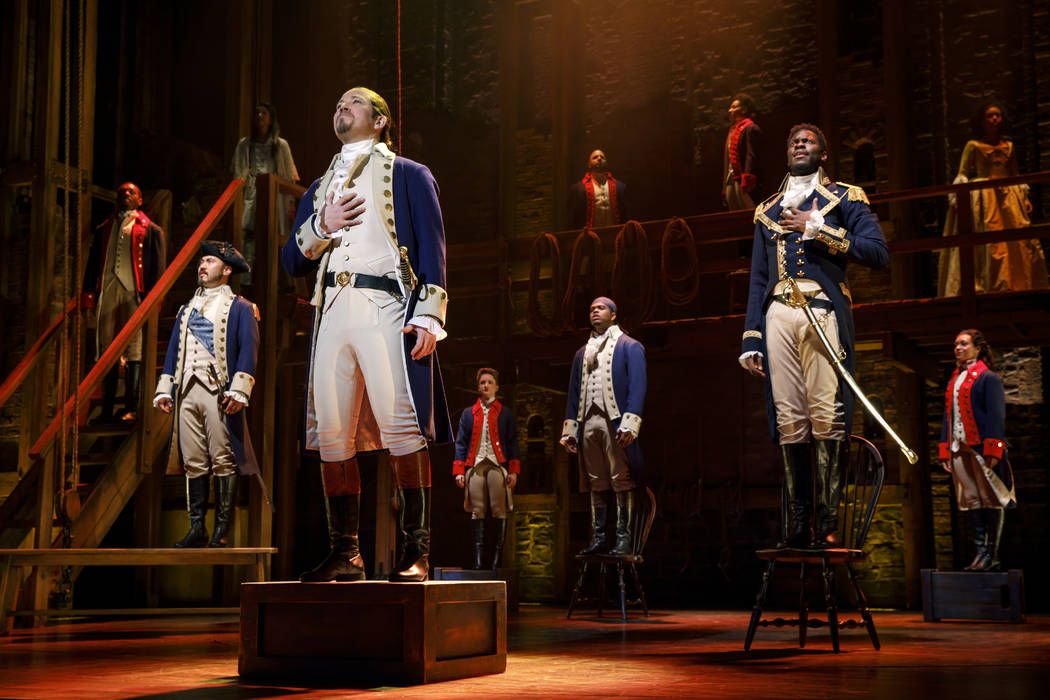 "The national touring company of ""Hamilton,"" playing The Smith Center May 29-June 28, 2018."