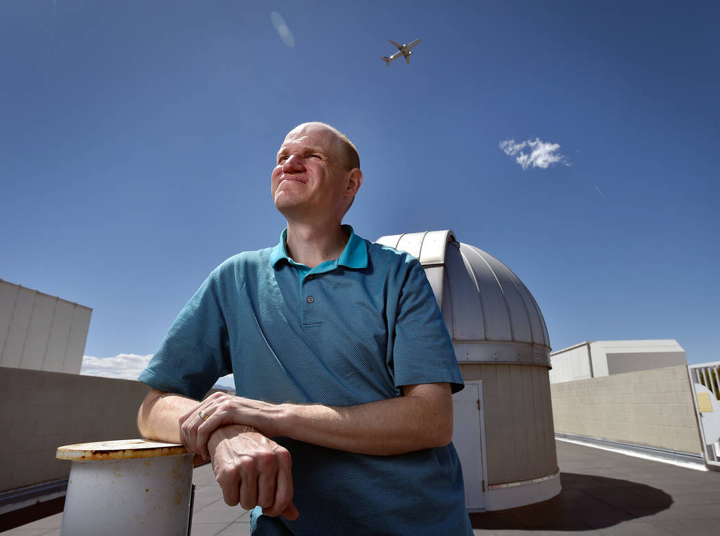 UNLV Assistant Professor Jason Steffen of the Department of Physics and Astronomy awaits the launch of the Transiting Exoplanet Survey Satellite, the next phase of NASA's search for exoplanets and ...
