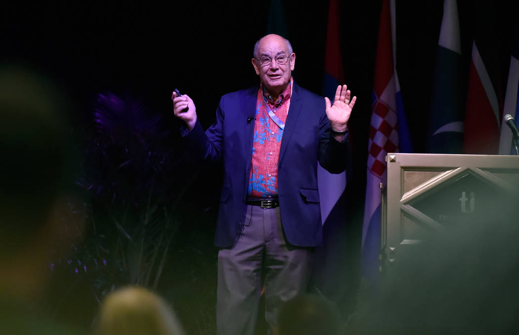 Frank Haas of Kapiʻolani Community College speaks during the International Tourism Security Conference at the Treasure Island hotel-casino on Tuesday, April 17, 2018, in Las Vegas. David Becker/ ...