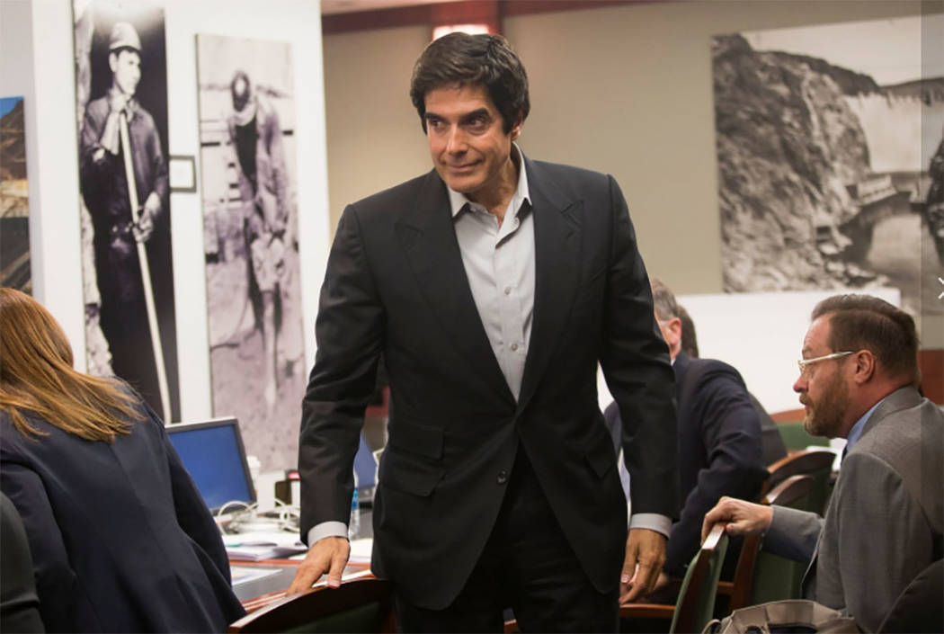 Illusionist David Copperfield takes the witness stand Wednesday afternoon in a civil trial over an audience member's slip and fall during a Las Vegas show. (Rachel Aston/Las Vegas Review-Journal ...
