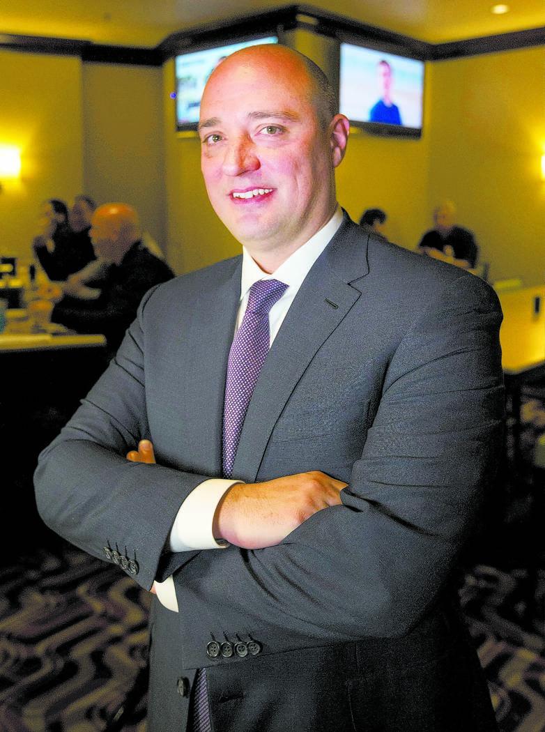 Matt Maddox, the newly appointed CEO of Wynn Las Vegas, on Monday, Feb. 19, 2018. Richard Brian Las Vegas Review-Journal @vegasphotograph