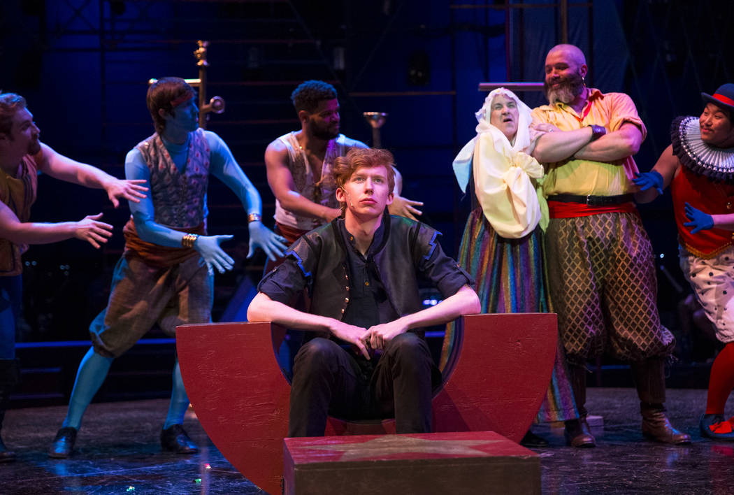 actors take part in a dress rehearsal for pippin a play by the