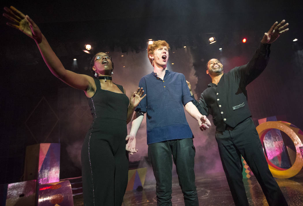 """Actors take part in a dress rehearsal for """"Pippin,"""" a play by the Nevada Conservatory Theatre, at UNLV's Judy Bayley Theatre in Las Vegas on Monday, April 23, 2018. Richard Brian Las Veg ..."""