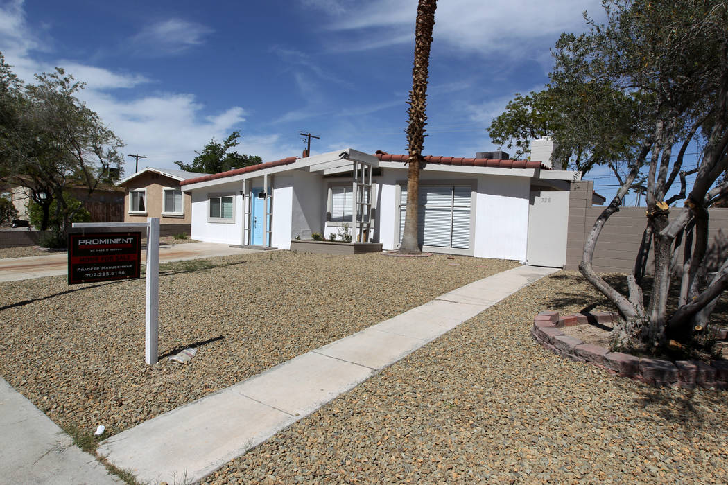 A house at 328 Xavier St. in Las Vegas near Alta Drive and Jones Boulevard is for sale Wednesday, April 18, 2018. K.M. Cannon Las Vegas Review-Journal @KMCannonPhoto