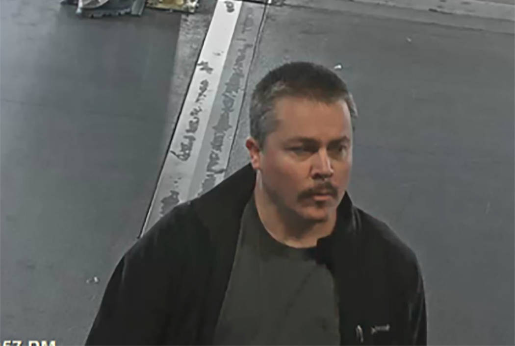 Anthony J. Wrobel, seen on a previous trip in March at McCarran International Airport in Las Vegas. (McCarran camera via FBI)