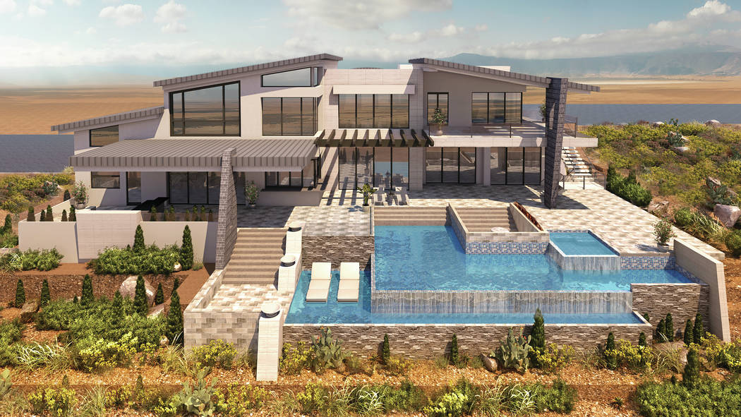 This rendering shows what one of the homes will look like in Bella Vista Estates, a new luxury community under construction in Henderson. (Bella Vista Estates)