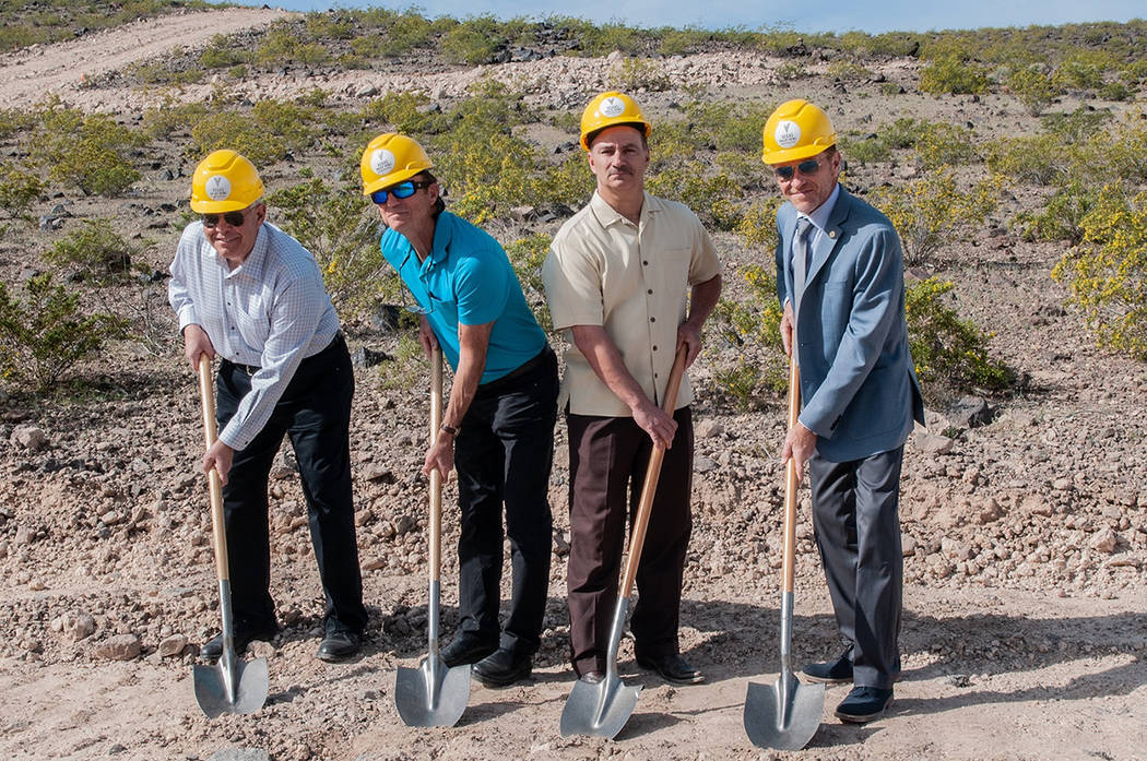 Bella Vista Estates Bella Vista Estates' developers, from left, Edward Campagna, Louis McNabb and Chris Malandrino and Tim Buchanan with the city of Henderson break ground on the new luxury reside ...