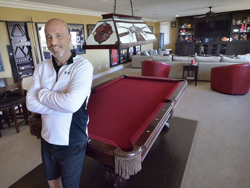 """Tanked"" star Brett Raymer included a man cave in his remodeled Las Vegas home. (Bill Hughes Real Estate Millions)"