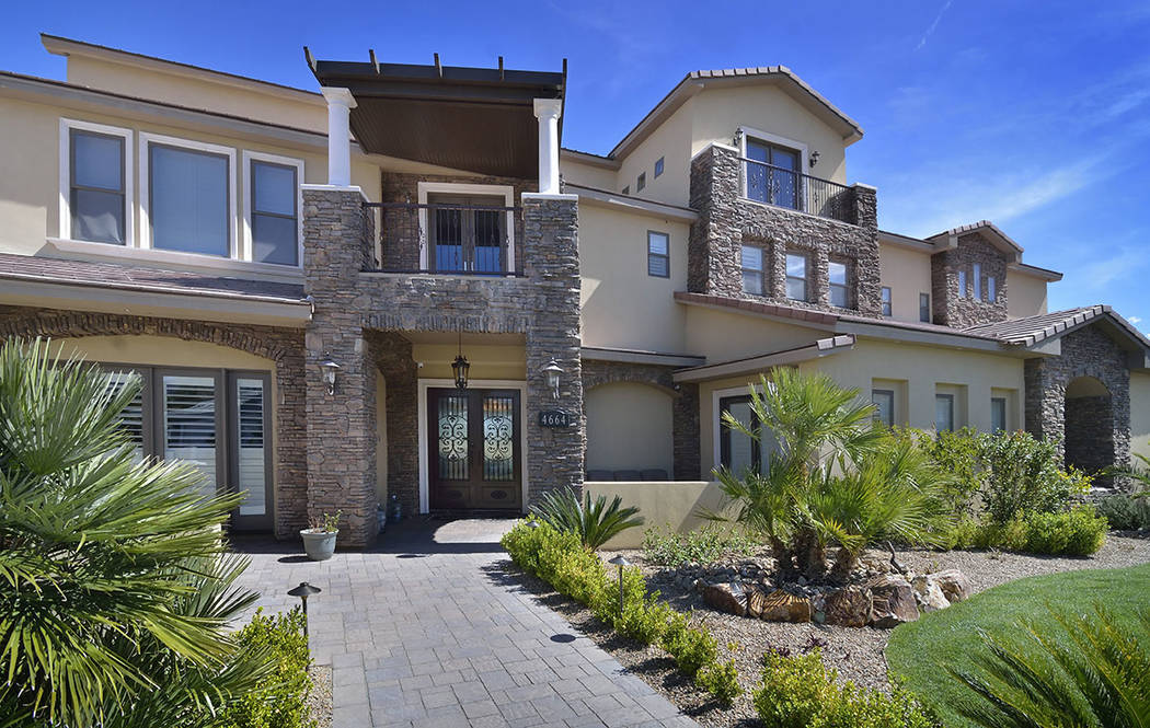 "Brett Raymer of ""Tanked"" bought the home near Lone Mountain in 2014 for $1,150,000, and said he put another $1 million into the property in upgrades. (Bill Hughes Real Estate Millions)"