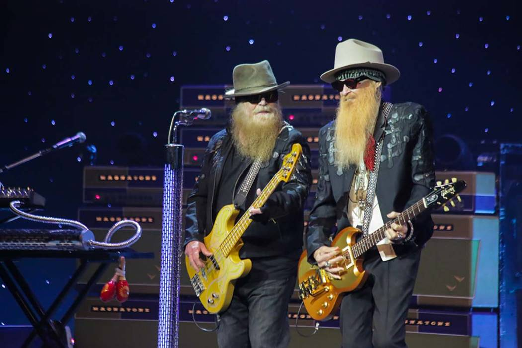 ZZ Top at Pearl at The Palms in Las Vegas, Oct. 7, 2016. (Edison Graff/Stardust Fallout)