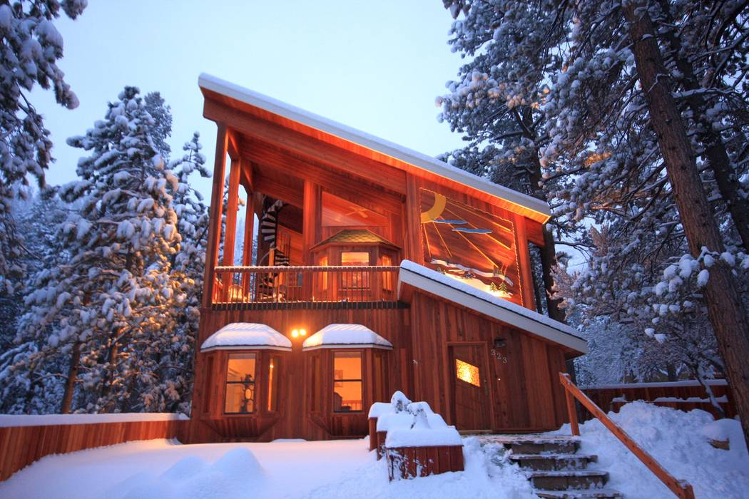 The home in winter. (Mt. Charleston Realty Inc.)