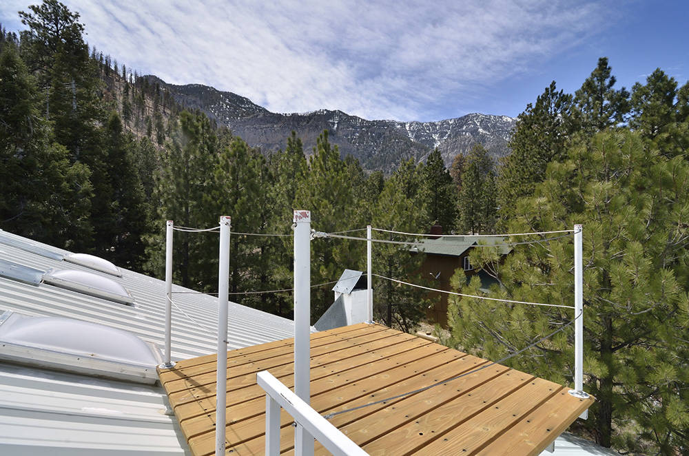 An observation deck is shown on the roof of a home of the Mount Charleston home. (Bill Hughes Real Estate Millions)