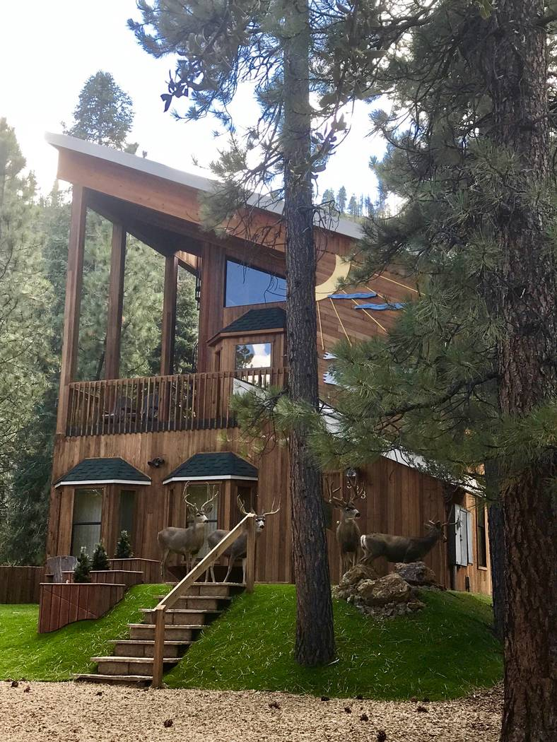 Deer walk in front of the home. (Mt. Charleston Realty Inc.)