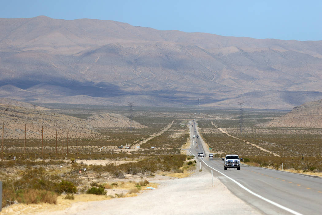 A portion of Apex Industral Park is shown near U.S. 93 in 2016 in North Las Vegas. (Las Vegas Review-Journal)