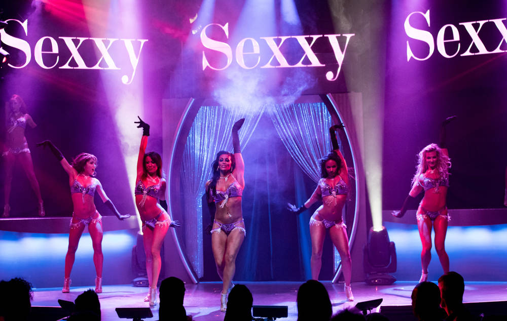 """The celebration of the 500th performance and second year of """"Sexxy"""" at Westgate on Monday, May 8, 2017, in Las Vegas. (Erik Kabik)"""