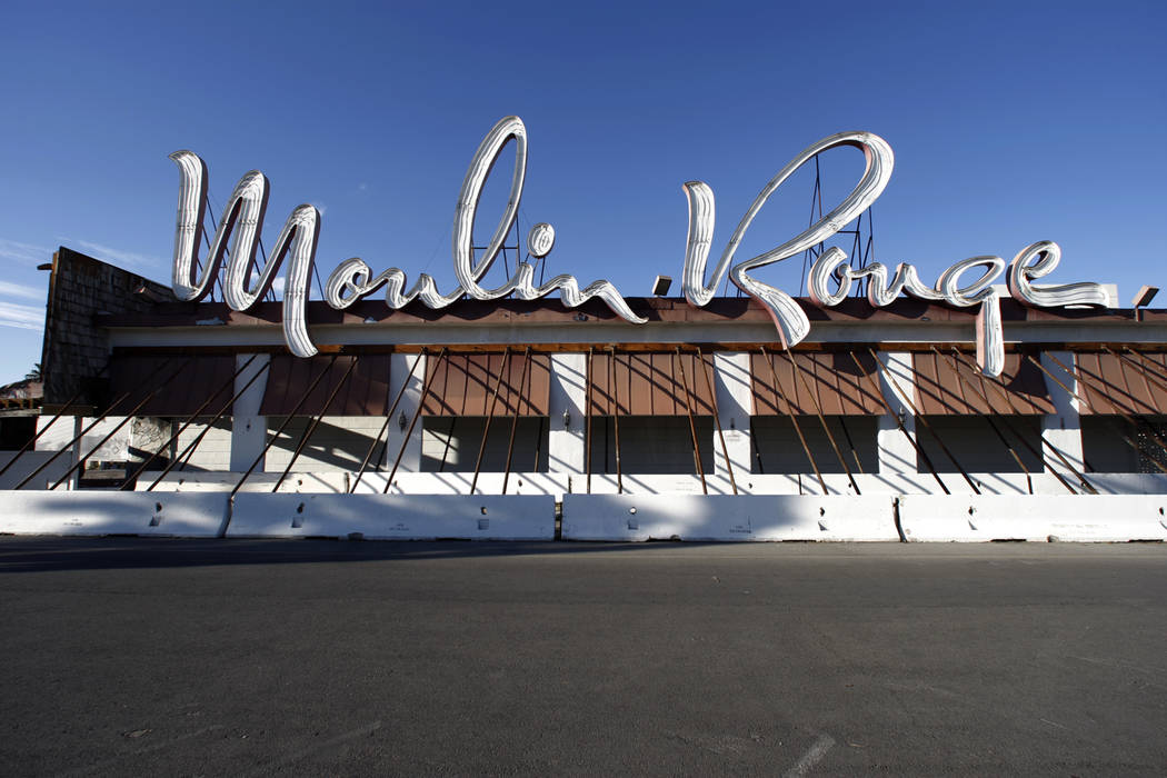 The Moulin Rouge hotel-casino on Bonanza Road near downtown Las Vegas is shown, Thursday, Nov. 4, 2007. Owners of the first integrated hotel and casino in Las Vegas say they are going to start dem ...