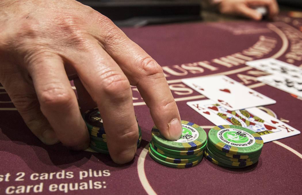 Blackjack is dealt at the MGM Grand hotel-casino on Thursday, April 19, 2018, in Las Vegas. Benjamin Hager Las Vegas Review-Journal @benjaminhphoto