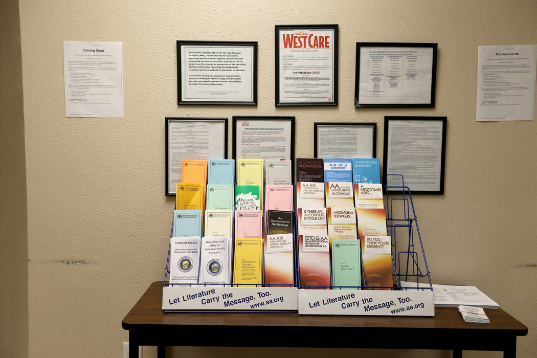 WestCare nonprofit addiction treatment center at 323 N. Maryland Pkwy. in downtown Las Vegas Friday, April 20, 2018. K.M. Cannon Las Vegas Review-Journal @KMCannonPhoto