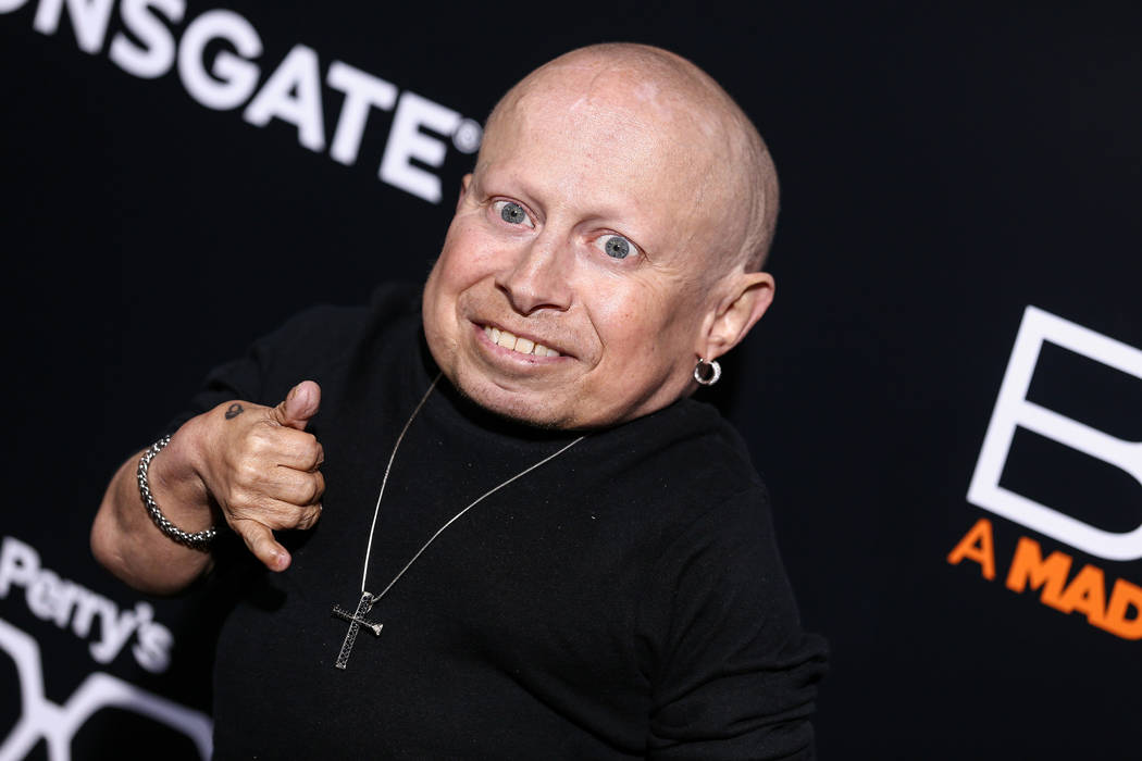 "Verne Troyer attends the world premiere of ""BOO! A Madea Halloween"" held at ArcLight Cinerama Dome on Monday, Oct. 17, 2016, in Los Angeles. (John Salangsang/Invision/AP)"