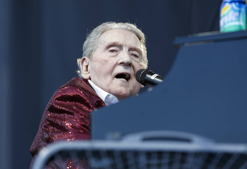 Singer-songwriter and pianist Jerry Lee Lewis performs during the 21st Annual Viva Las Vegas Rockabilly Weekend car show at the Orleans in Las Vegas on Saturday, April 21, 2018. Richard Brian Las ...