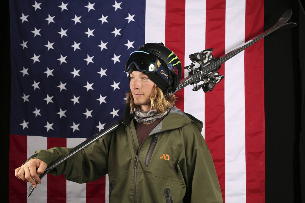 United States Olympic Winter Games halfpipe skier David Wise poses for a portrait at the 2017 Team USA Media Summit Tuesday, Sept. 26, 2017, in Park City, Utah. (AP Photo/Rick Bowmer)