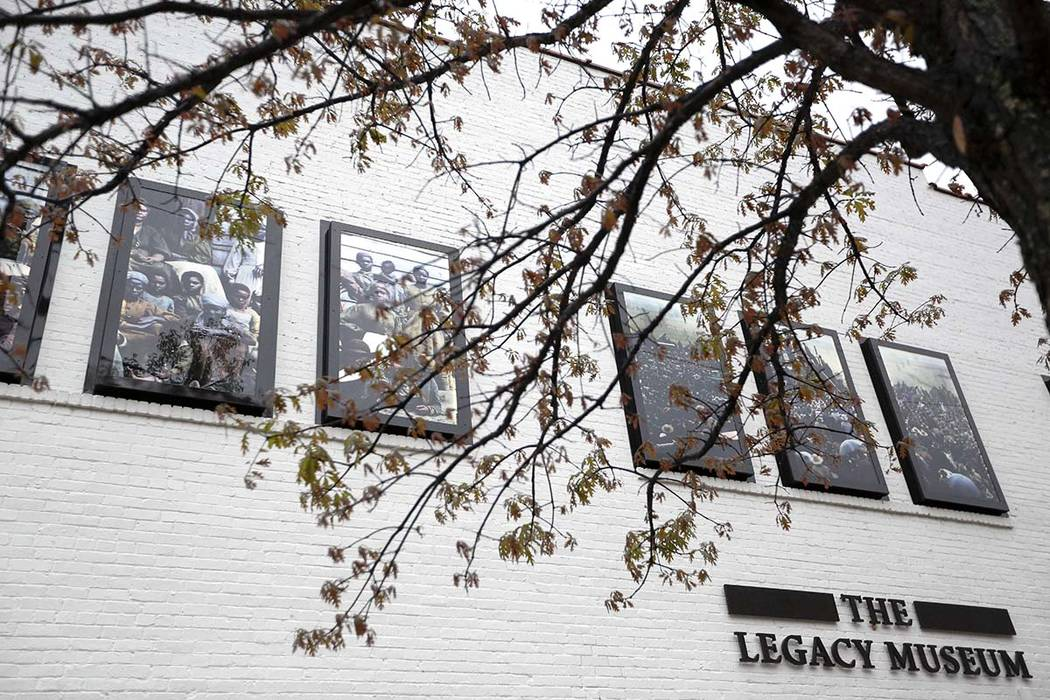 This photo shows an exterior of the Justice and the Legacy Museum, Sunday, April 22, 2018, in Montgomery, Alabama. The combined museum and a new memorial planned to open Thursday will be the natio ...