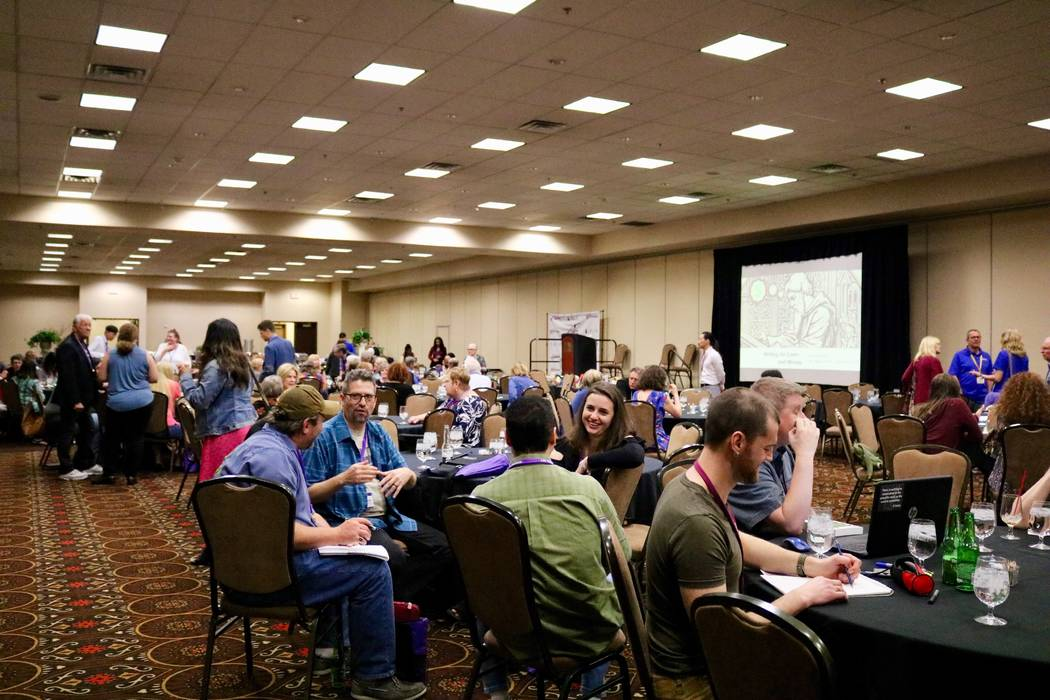 The Las Vegas Writer's Conference was held at the Tuscany Suites and Casino in Las Vegas on Saturday, April 23. (Madelyn Reese/ Las Vegas Review-Journal)