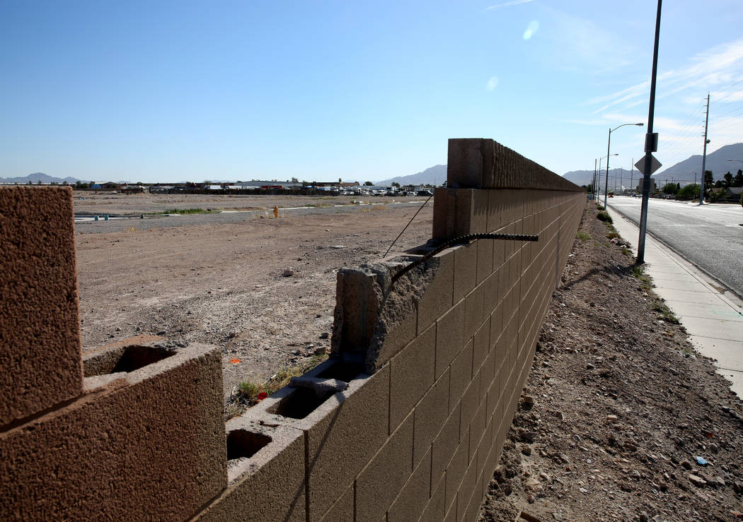 A vacant subdivision lot at the Northeast corner of Lamb Boulevard and Carey Avenue photographed on Tuesday, April 24, 2018, in Las Vegas. Bizuayehu Tesfaye/Las Vegas Review-Journal @bizutesfaye