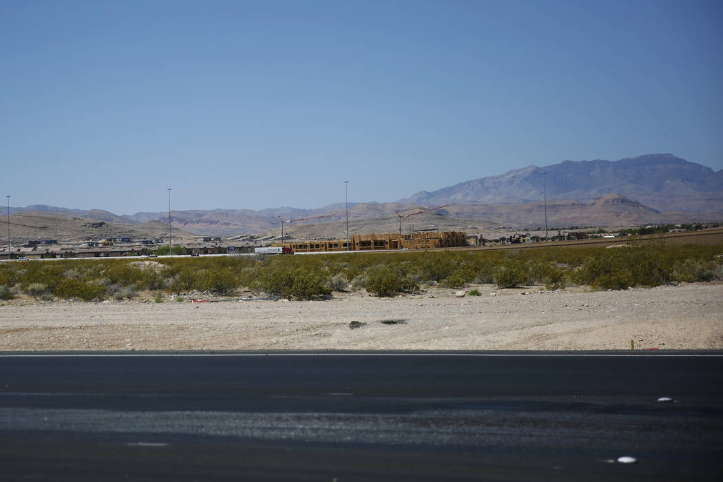 A view of an undeveloped stretch on Las Vegas Boulevard in Las Vegas on Friday, April 27, 2018. Andrea Cornejo Las Vegas Review-Journal @dreacornejo