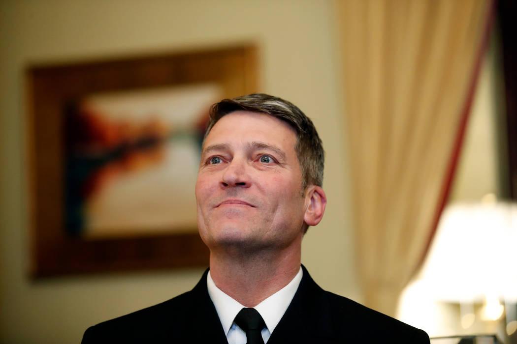 U.S. Navy Rear Adm. Ronny Jackson, M.D., is President Donald Trump's nominee to be the next Secretary of Veterans Affairs. (Alex Brandon/AP)