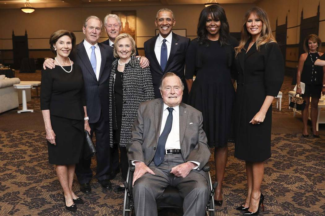 The day after this Saturday, April 21, 2018, photo was taken duirng the funeral for Barbara Bush, former President George H.W. Bush, was hospitalized. (Paul Morse/Courtesy of Office of George H.W. ...