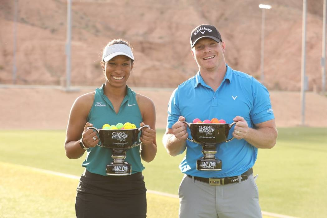 Alexis Belton and Will Hogue won long drive titles at the Clash in the Canyon in Mesquite and televised live on Golf Channel. Belton's winning drive was 332 yards and Hogue's final drive was 413 y ...
