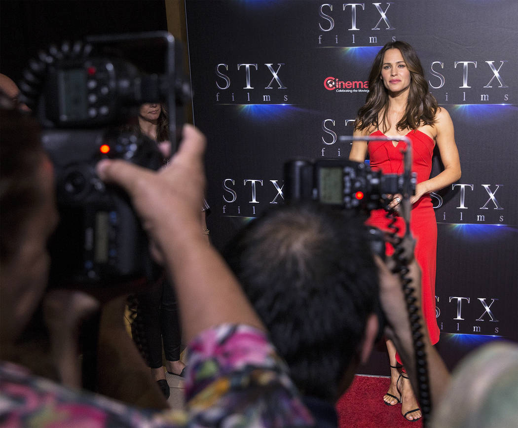 "Jennifer Garner promotes her new movie ""Peppermint"" during the STXfilms red carpet event on the second night of CinemaCon on Tuesday, April 24, 2018, at Caesars Palace hotel-casino, in L ..."