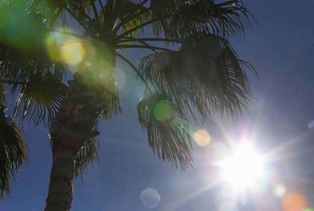Temperatures will stay in the 90s until the weekend in the Las Vegas Valley. (Las Vegas Review-Journal)