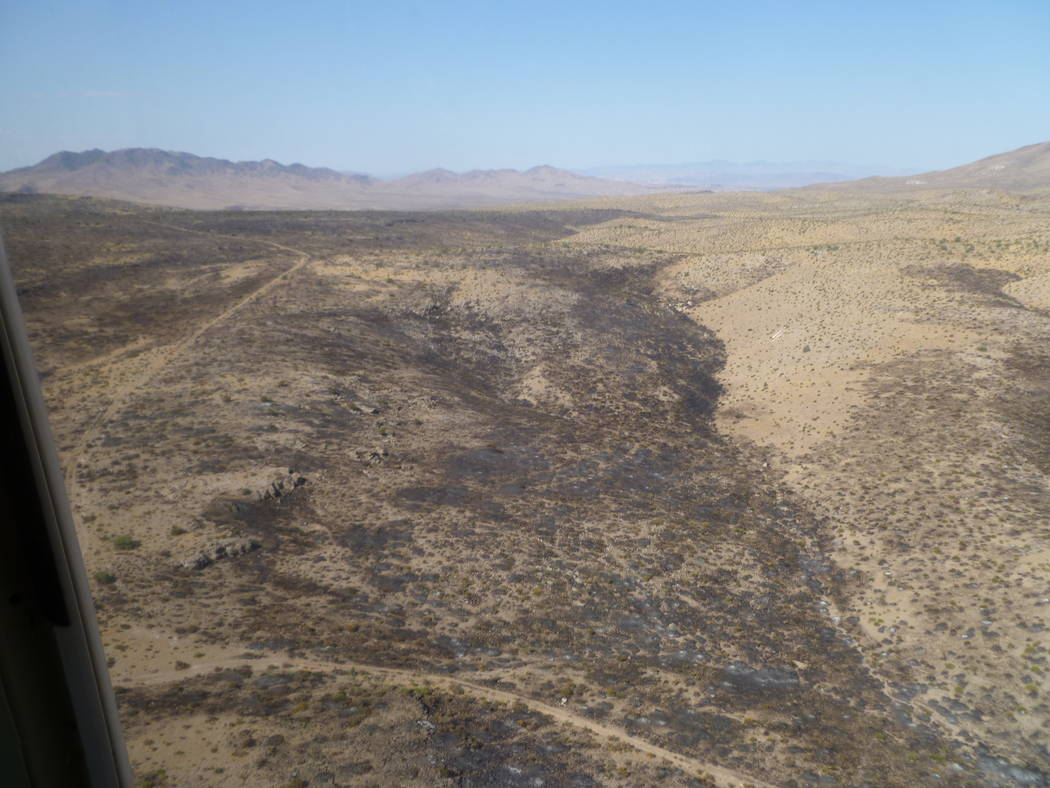 A wildfire at the Nevada National Security Site covered an estimated 2,500 acres and believed to have been sparked by lightning last summer. In 2017, 1.3 million acres burned in Nevada from wildfi ...