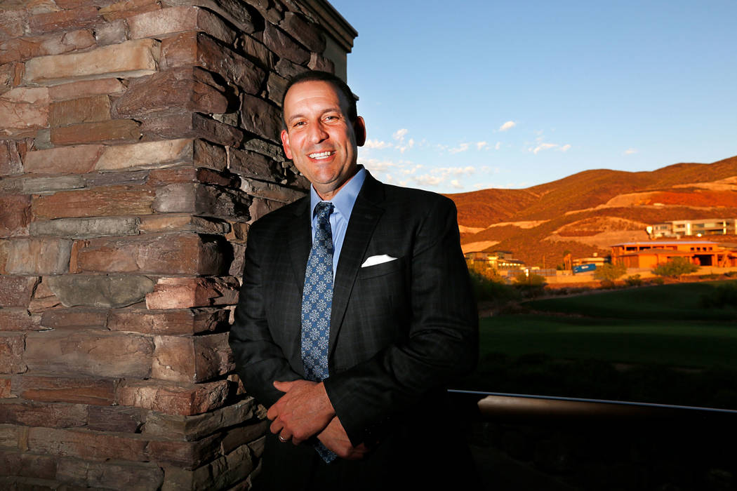 Jason Mendelsohn, a stage IV HPV cancer survivor, during the Southern Nevada awards dinner and fundraiser at Dragon Ridge Country Club in Henderson, Thursday, April 26, 2018. Mendelsohn is a key ...