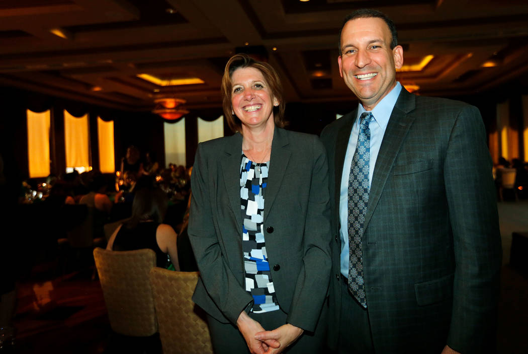Dr. Nancy Messonnier, director of the National Center for Immunization and Respiratory Diseases, and Jason Mendelsohn, a stage IV HPV cancer survivor, during the Southern Nevada awards dinner and ...