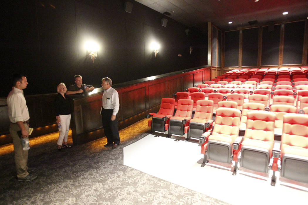 Owners of the former estate of former Strip headliner Wayne Newton show the newly constructed theater during a tour Tuesday, Aug. 27, 2013. The majority owners of the 38-acre site at the corner of ...