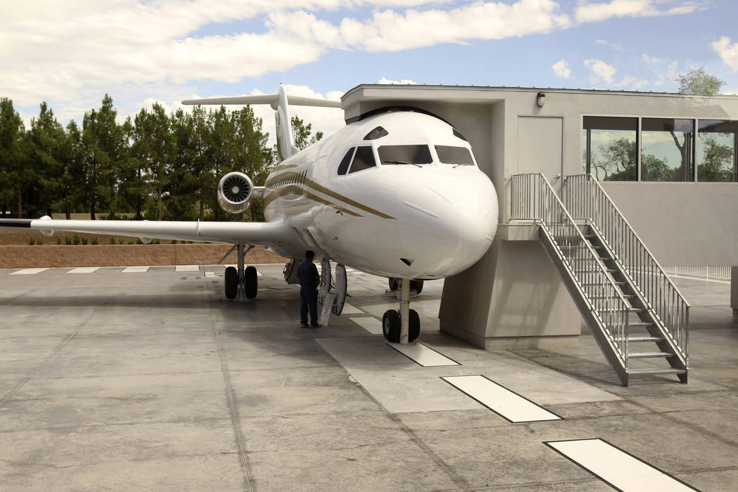 A newly constructed attraction showcasing Wayne Newton's private jet is shown at the former estate of the former Strip headliner Tuesday, Aug. 27, 2013. The majority owners of the 38-acre site at ...
