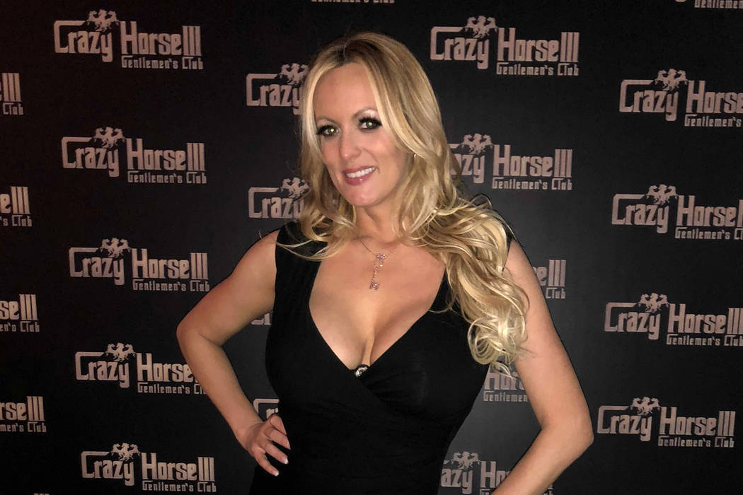 Stormy Daniels is shown at Crazy Horse III Tuesday, April 24, 2018. (Brenton Ho)