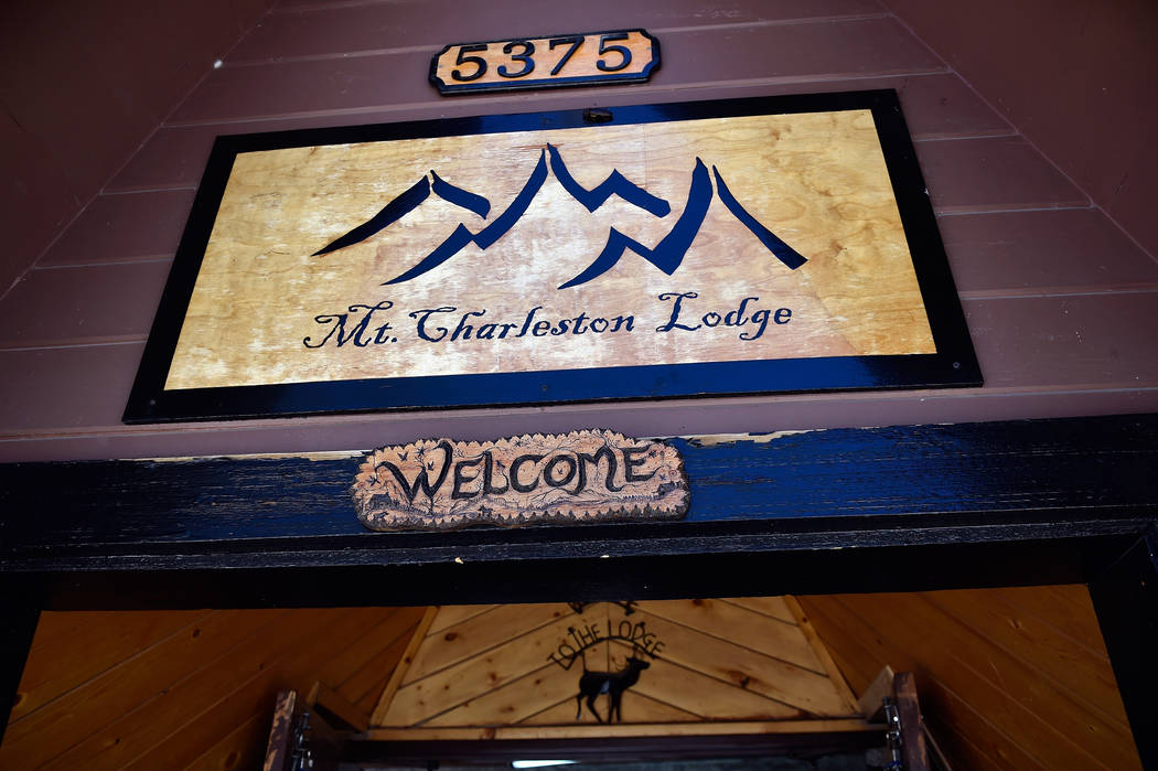 The entrance to the Mt. Charleston Lodge is seen Friday, July 15, 2016, on Mount Charleston. (David Becker/Las Vegas Review-Journal) @davidjaybecker