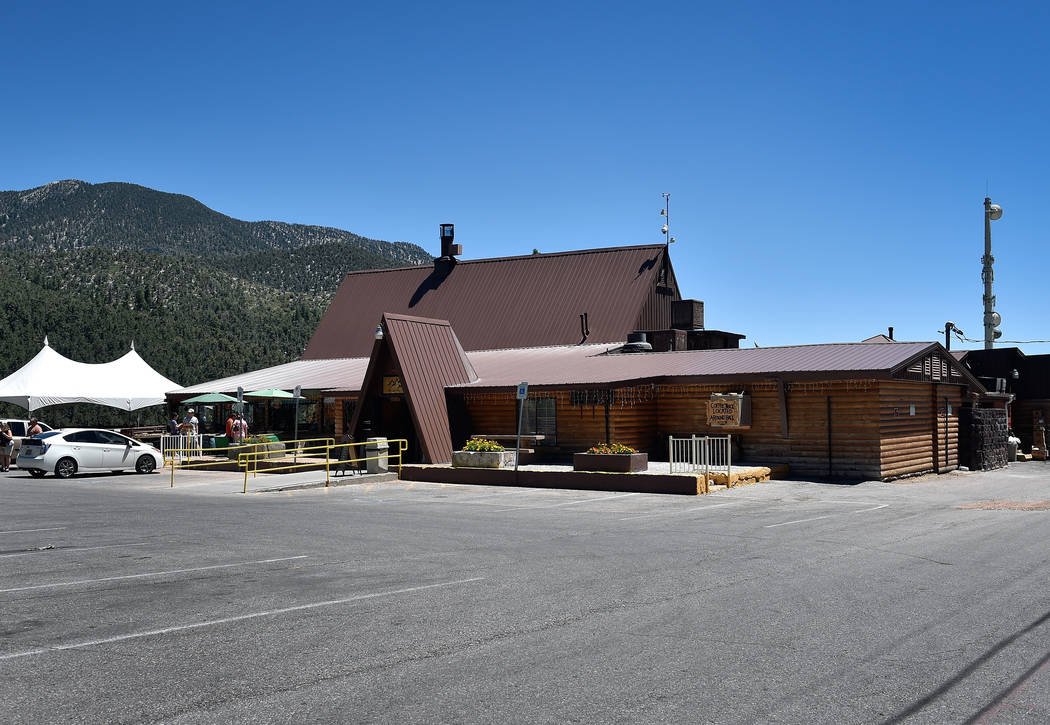 The Mt. Charleston Lodge on Mount Charleston. (David Becker/Las Vegas Review-Journal) @davidjaybecker