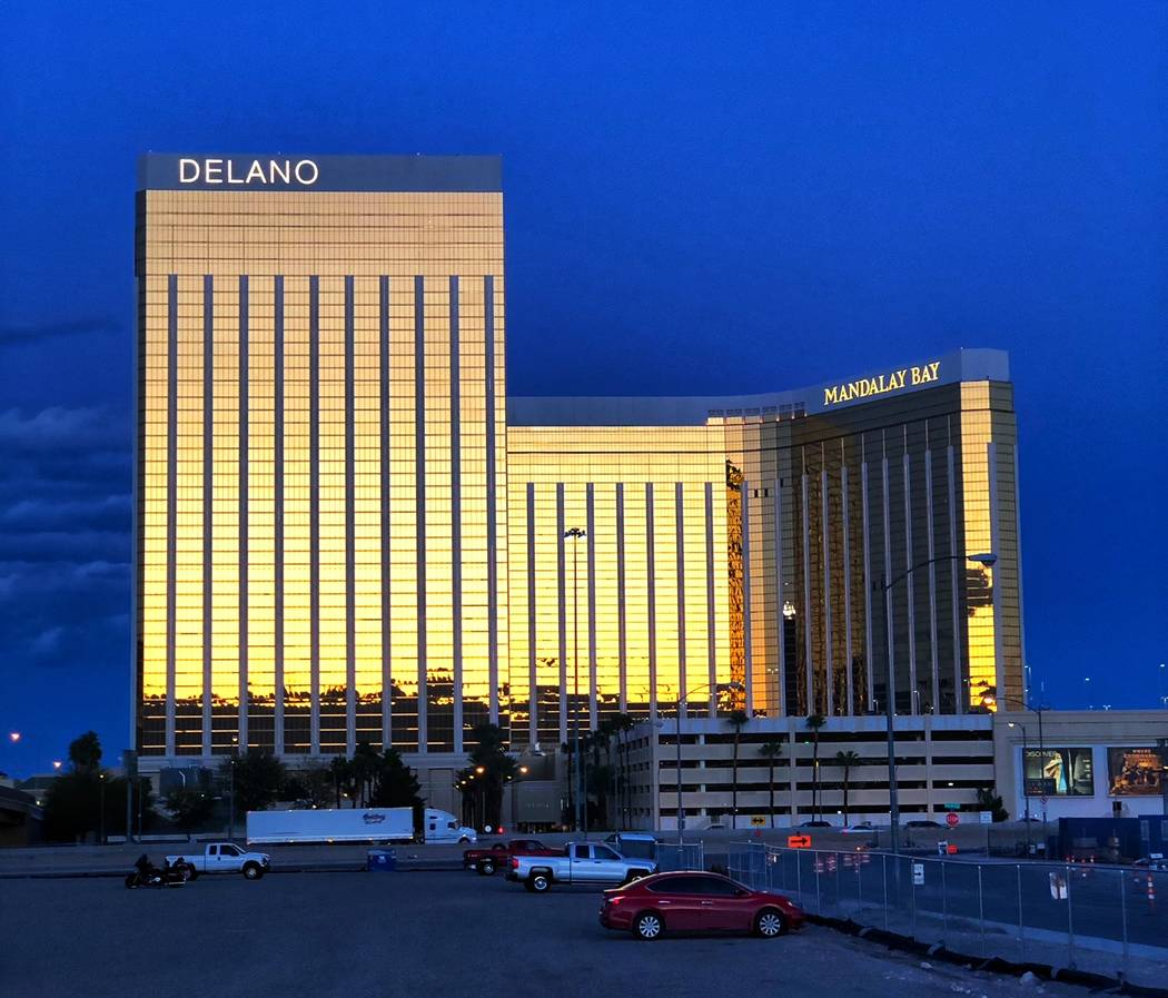 Delano and Mandalay Bay, as seen on March 15, occupy the south end of the Las Vegas Strip. Todd Prince Review-Journal.